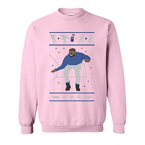 H&T Shirt Sweatshirt for Women Men Hotline Bling Drake Unisex Sweatshirts(Light Pink,XX-Large)