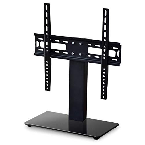 DORIS テレビスタンド モニタースタンド 19〜32インチ対応 壁寄せ ガラス台座 テレビ台 ブラック ダフニス