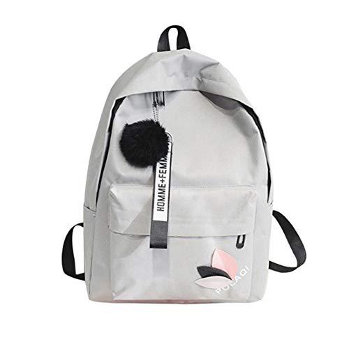 UKKD Mochila Mujer Llegada Mochila De Lona Para Mujer Bolsa De La Escuela Para Niñas Mochila De Mochila Backpacks Bolsas De La Escuela Viajar Linda Super Luz