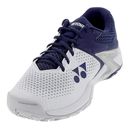 YONEX Power Cushion Eclipsion 2 Mens Tennis Shoe - White/Navy - Size 8.5
