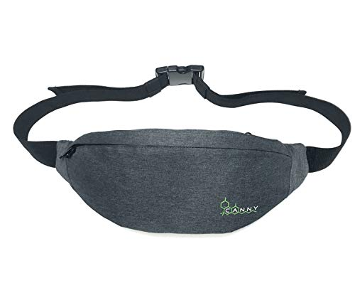 CANNY Fanny Pack Smell Proof Bag – Large Travel Pouch Waist Pack Stash Case Container Bamboo Charcoal Activated Carbon…