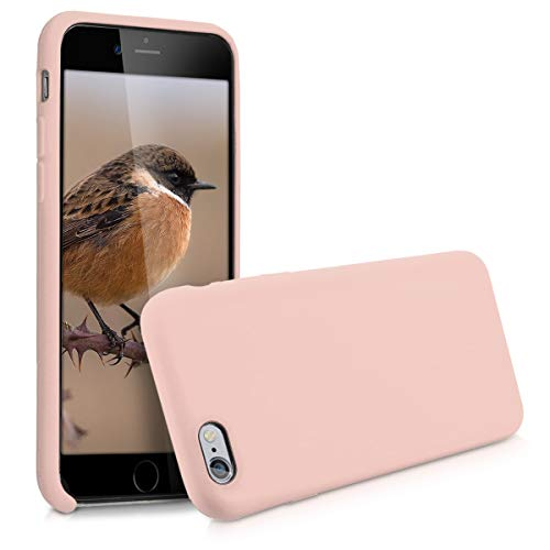 kwmobile Hülle kompatibel mit Apple iPhone 6 / 6S - Handyhülle gummiert - Handy Case in Altrosa