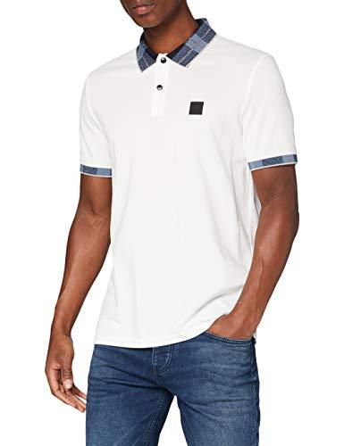 BOSS Mens Preset Polo Shirt, Natural (102), XL