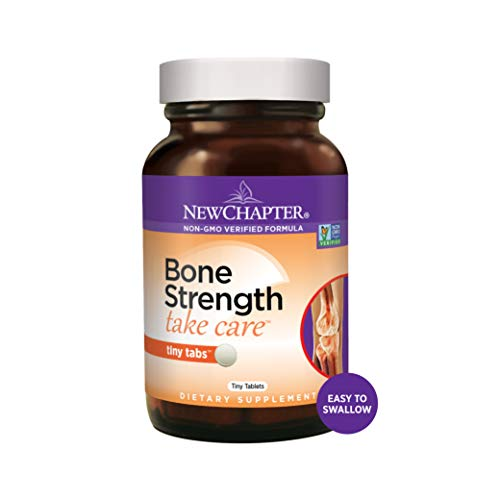 New Chapter Calcium Supplement – Bone Strength Whole Food Calcium with Vitamin K2 + D3 + Magnesium, Vegetarian, Gluten Free 120ct Tiny Tabs (20 day supply)