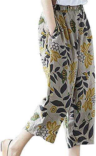Damen Hose Elastische Taille Harem Kordelzug Tänzer Bekleidung Festlich Solide Beiläufig Lose Passen Yoga Hose Für Frauen Größe Förderung (Color : Z1-Gelb, Size : M)