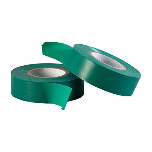 Gocableties Polyvinylchlorid-Elektro-Isolierband, 20 m x 19 mm, Premium-Doppelpack, 2 Rollen, Grün PVC-Klebeband