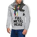 Full Metal Head Black Mirror - Sudadera con capucha para hombre, color negro Negro Negro ( S