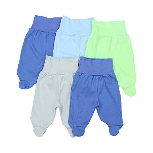 TupTam TupTam Unisex Baby Strampelhose mit Fuß 5er Pack, Farbe: Junge 2, Größe: 68