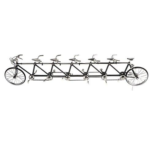 D DOLITY 1/10 Realistico Diecast Tandem Bicicletta Da Corsa Ciclismo Veicoli Arredamento Display Showcase Lega Gomma - Multicolore