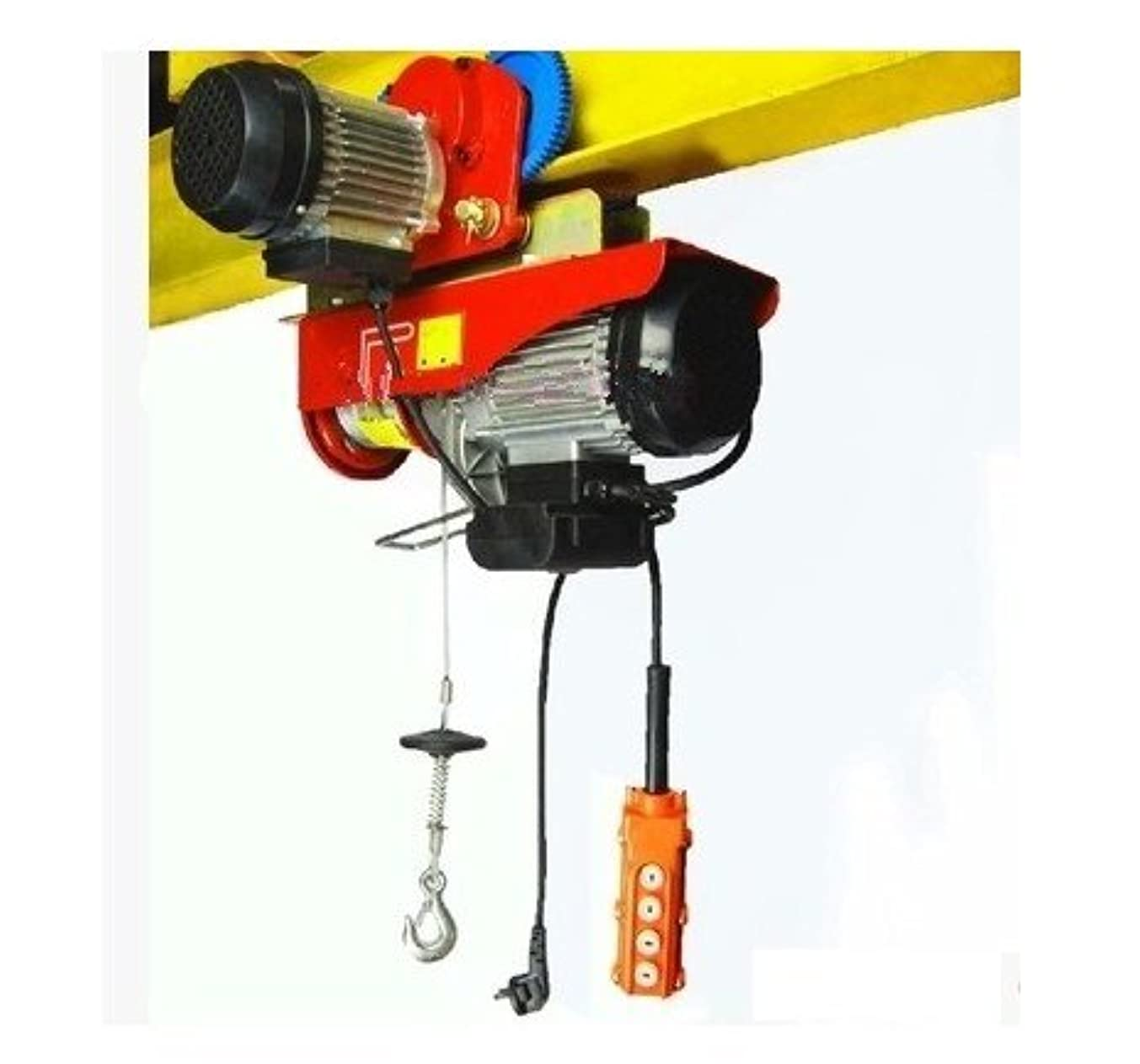 GOWE 100kg/200KG 20M, 220V 50HZ 1-phase, all-in-one mini electric wire rope hoist with trolley PA mini block, crane, lifting sling