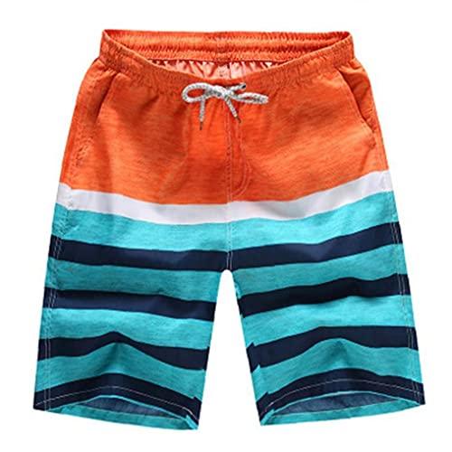 Strand broek, Heren Beachwear Quick Dry Striped Board shorts, prenten zwembroek