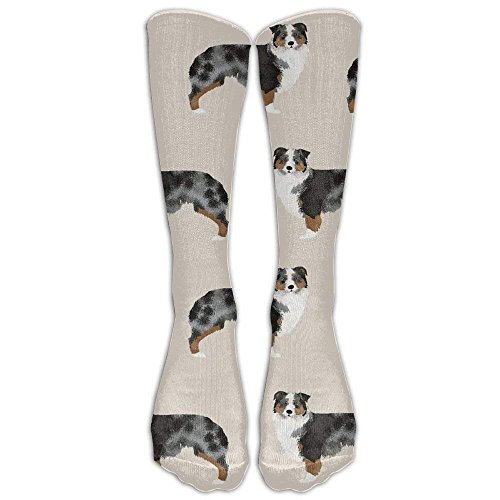 HJKAA Calcetines Hombres Mujer Australian Shepherd Tube Socks for Women & Men - Graduated Athletic Fit for Running, Nurses, Flight Travel, Skiing & Maternity Pregnancy - Boost Stamina & Recovery