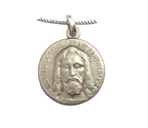 Medaglietta Volto Santo In Argento 925 con Catenina In Argento