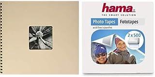 Hama Fine Art - Álbum De Fotos, 50 Páginas Negras (25 Hojas), Álbum Con Espiral, 36 X 32 Cm, Con Compartimento Para Insert...