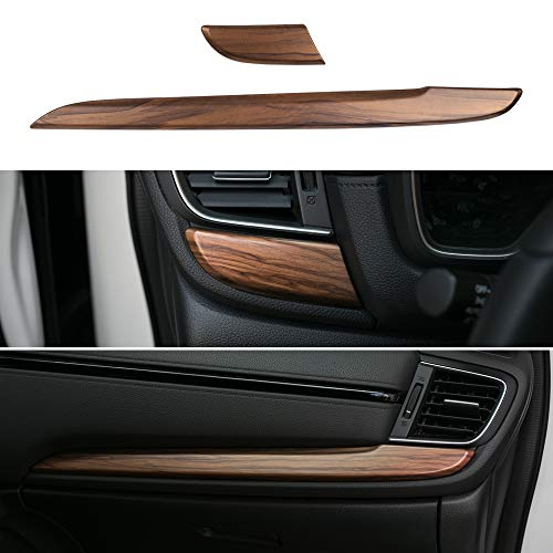 Thenice for CRV ABS Peach Wood Grain Center Consoles Dash Board Panel Cover Interior Decoration Mouldings for Honda CR-V 2020 2019 2018 2017