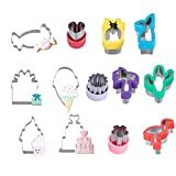 13 Pcs Cookie Cutters for Kids - Tropical Hawaiian Cutter Molds, Ice Cream Cupcake and Sweets Cookie...