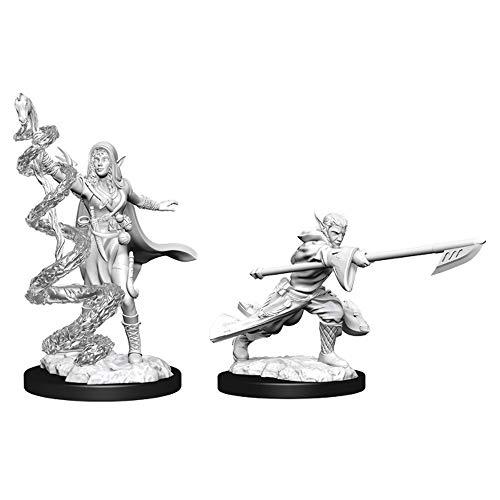 Magic The Gathering Unpainted Miniatures: Joraga Warcaller & Joraga Treespeaker