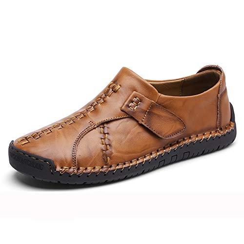 GPF-fei Herrenschuh Leder-Loafers Slip-One Lazy Schuhe Bootsschuh Bootsschuh Turnschuh Single Schuhe Comfortable Fashion Leisure,Black,45