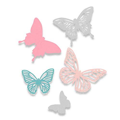 Sizzix Thinlits Troqueles 5PK Mariposas