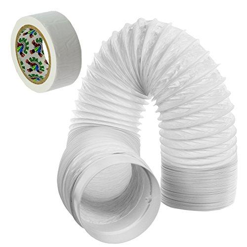 SPARES2GO PVC Erweiterungssatz Rohr für flexiblen Schlauch für Miele Klimaanlage (6m, 5 Zoll)