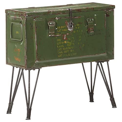LUYIPINGQIWND Color: Verde Baúl de almacenaje Estilo Militar 68x24x66 cm Hierro