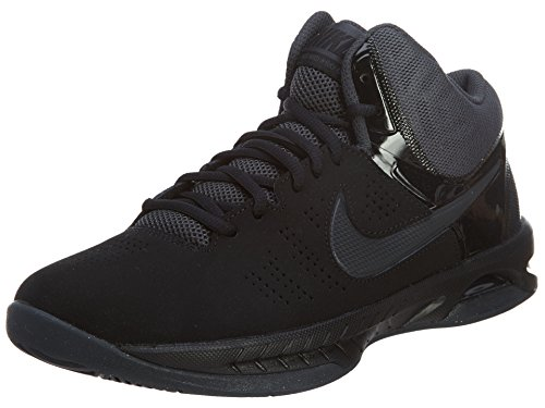 Nike Mens Air Visi Pro Vi Nbk Black/Anthracite Ankle-High Nubuck Basketball Shoe - 10M