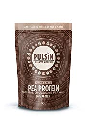 It is: vegan, non GM and contains no added fillers or sugar, making it a great alternative to dairy protein Our chocolate flavored pea protein is one of the easiest to use in our protein powder range Simply add 25g to a shaker together with 250ml of ...
