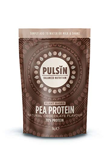 Pulsin Natural Flavoured Plant Based Vegan Free From Chocolate Pea Protein Powder 1 kg