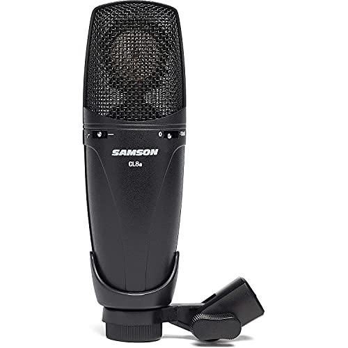 Samson CL8a - Micrófono de Condensador cardioide, Omni y Figura en 8, Acabado Negro
