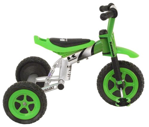 Kawasaki Tricycle, 10 inch Wheels, suspension forks, Boy's Trike, Green
