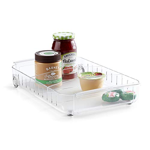 YouCopia RollOut Fridge Caddy, 9' Wide, Clear