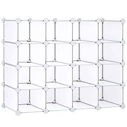 13x13 Large Storage Cubes (Set of 8). Fabric Storage Bins with Dual Handles | Cube Storage Bins for Home and Office | Foldable Cube Baskets For Shelf | Closet Organizers and Storage Box (Light Grey)
