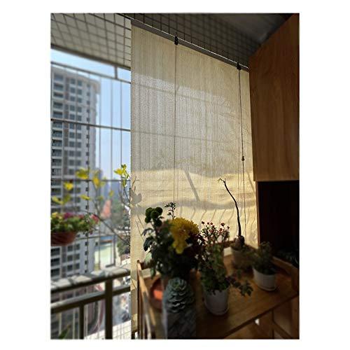 YJFENG Persianas De Sombra, Exterior Enrollar Pantalla De Privacidad, Proteccion Solar Luz De Filtro para Porches Pabellones Pérgola, Tejido Transpirable (Color : Beige, Size : 100x180cm)