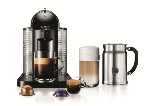 Nespresso VertuoLine Coffee and Espresso Maker with Aeroccino Plus Milk Frother, Black (Discontinued Model)
