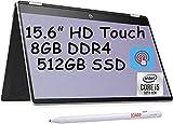 2021 Flagship HP Pavilion X360 15 2-in-1 Laptop Computer 15.6' HD Touchscreen Display 10th Gen Intel Quad-Core i5-10210U (i7-8550U) 8GB DDR4 512GB SSD B&O HP Fast Charge Webcam Win 10 + iCarp Pen