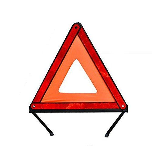 PDR 自動車緊急用 三角表示反射板 収納可能 昼夜間兼用型 収納ケース付き