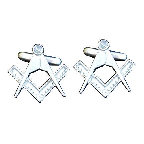 Kiwi Boutons de Manchette Masonic (avec G) - Fait à la Main en Etain - Fabrication Française