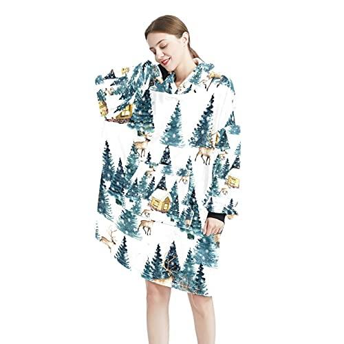 Submarino Sea Turtle CoralBlanket sudadera con capucha suave con capucha túnica cálida manta para mujeres y hombres sudadera talla única, Color-7, Talla única