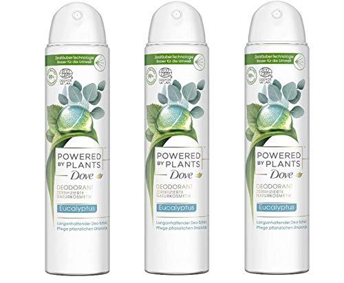 Dove Deo-Spray Powered by Plants Eucalyptus 3x75 ml (3er Pack) ohne Aluminiumsalze