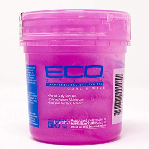 Eco Professional Curl & Wave Styling Gel Firm Hold All Types Of Hair 8 oz...
