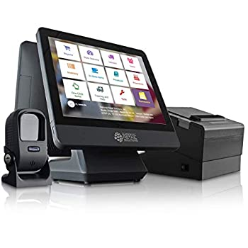 NRS LITE Cash Register for Small Businesses  USA ONLY  - POS System Bundle Includes - Merchant Touch Screen Monitor with Customer-Facing Display Barcode Scanner & Thermal Receipt Printer