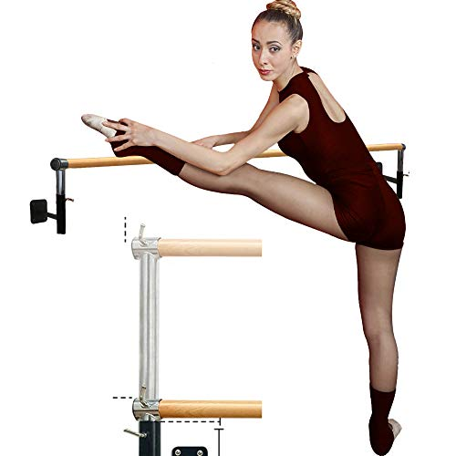Artan Balance Ballet Barre Wall Mounted for Home or Studio Dance Training, Yoga, Stretching, and Pilates, Adjustable Bar Height for Kids and Adults, Beginner Friendly
