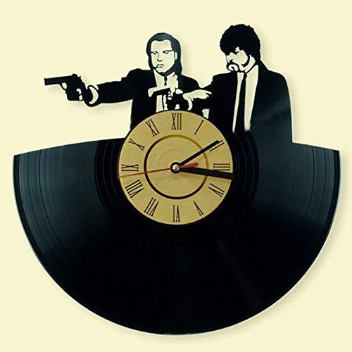 GVC Nueva Sala de Estar Creativa de la Novedad Reloj de Pared de Vinilo Retro Vintage Pulp Fiction CD Record Clock Large 3D Home Decor Watch
