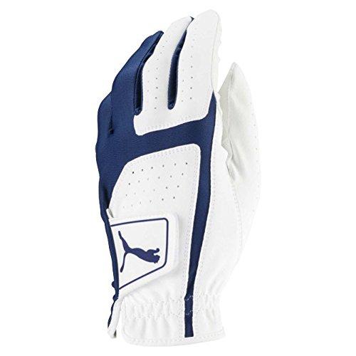 Puma Golf 2018 Men's Flexlite Golf Glove (Bright White-Monaco Blue, Large, Left Hand)