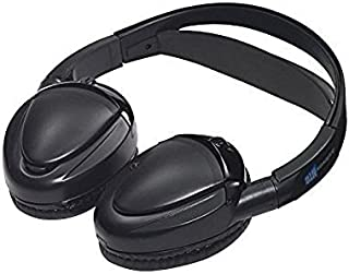 Audiovox Dual Channel Wireless Fold-Flat Headphones with Batteries