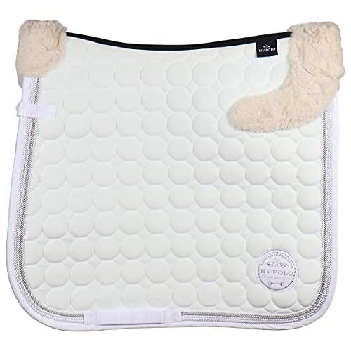 HV Polo Tapis de Selle Furry Luxury - Blanc-Dressage Cheval