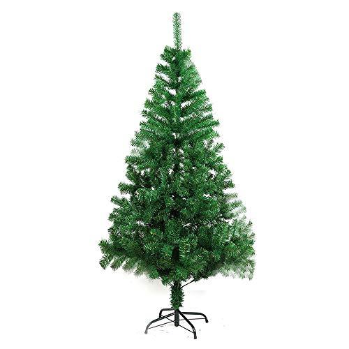 COOSNUG 210cm Weihnachtsbaum Künstlich Grün unechter Tannenbaum mit Metall Christbaum Ständer Schwer entflammbar