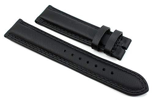 Chronoswiss 20 mm vera pelle nera cinturino per orologio C2
