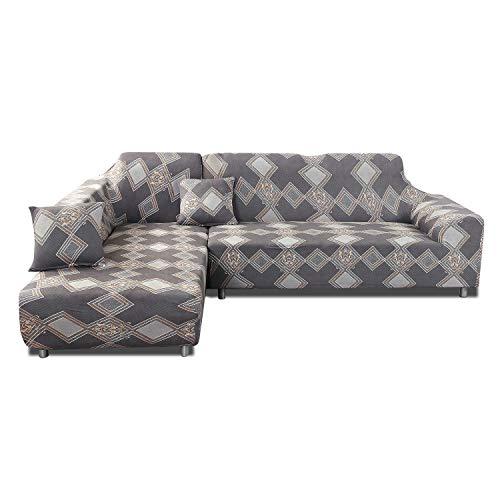 PETCUTE Fundas de sofá en Forma de L Protector de sofá elástico Funda de sofá Esquina 1 2 3 4 plazas Cubre Sofa con Chaise Longue