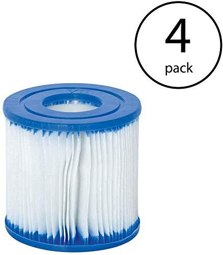 Bestway - Cartucho de filtro para piscinas (tamaño I, repuesto de cartucho de filtro para piscinas de Bestway (4 unidades)